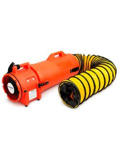 "8"" Plastic  Com-Pax-Ial Blower with 25"" ductinig & canister assembly 220V/50Hz"