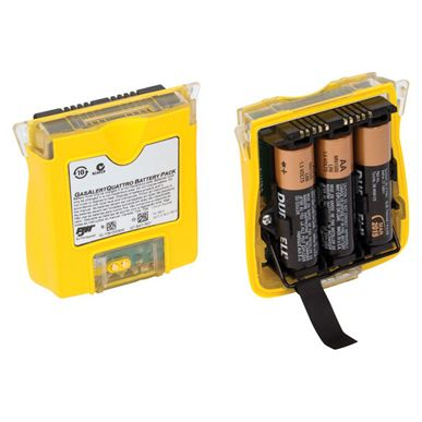 Alkaline battery pack with batteries - yellow