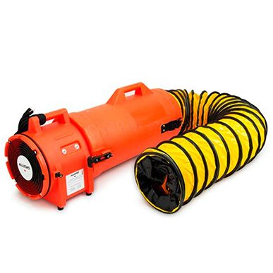 """Allegro 8"""" Plastic Com-Pax-Ial Blower with 25' ducting & canister assembly 220V/50Hz"""