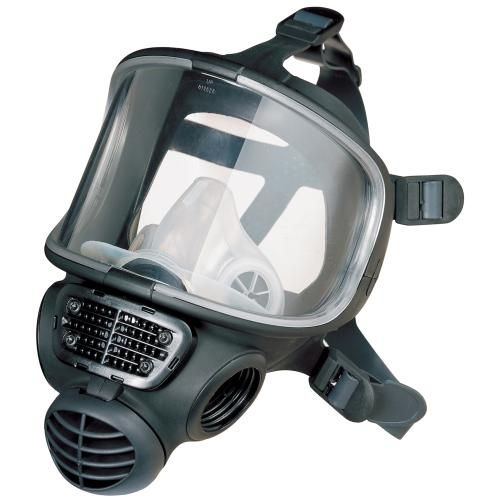 Promask fitted with helmet clamps LQF, Medium Large